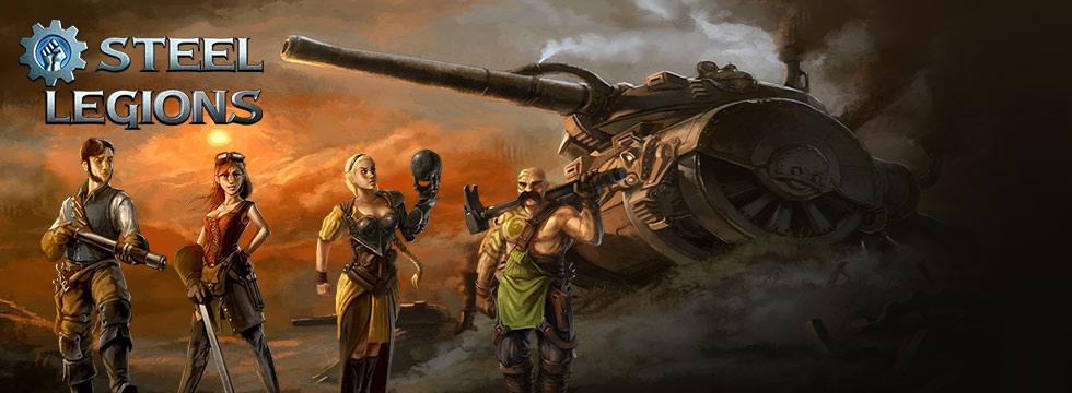 Darmowa Gra Steel Legions. Ulepszaj swój czo³g i niszcz maszyny nieprzyjació³!