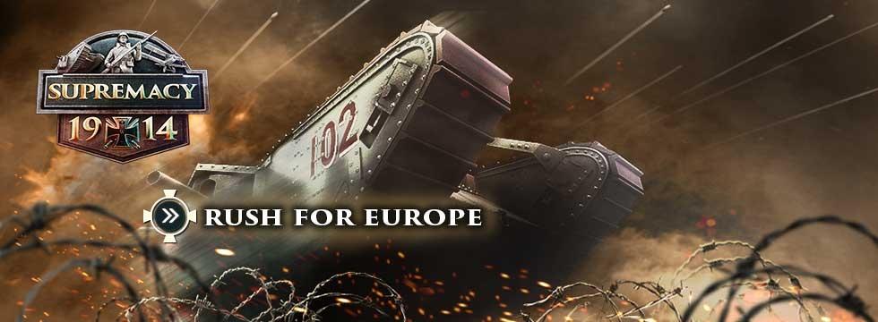 Darmowa Gra Supremacy 1914. Wygraj I Wojnê Œwiatow¹! Event RUSH FOR EUROPE, do³¹cz teraz!