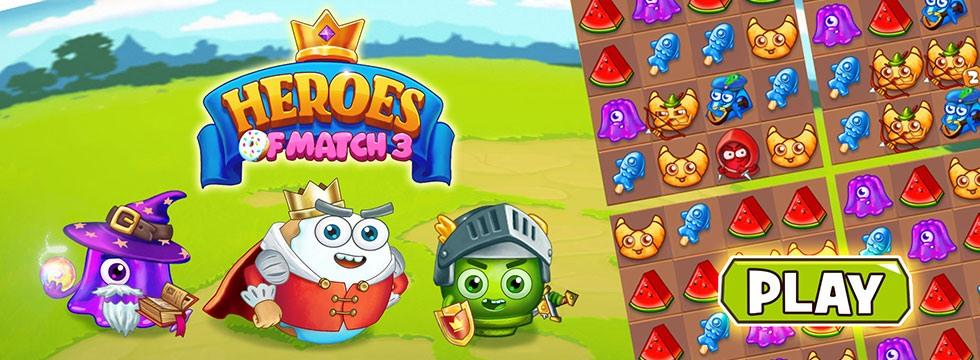 Darmowa Gra Heroes of Match 3. Przygodowa gra match3 w stylu Puzzle Quest