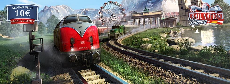 Darmowa Gra Rail Nation. Do³¹cz do eventu Origins Journey i zdob¹dŸ dodatkowe 10 Euro!
